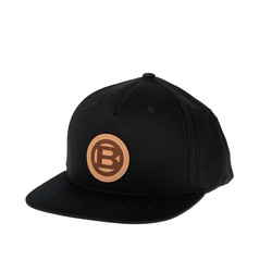 Leather B Baseball Cap